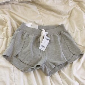 Pants - NWT Plain gray comfy shorts white drawstring